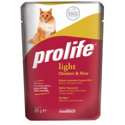 Prolife Cat Light Pollo & Riso Bustina 85g