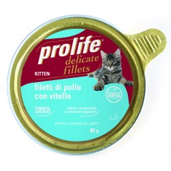 Prolife Cat Kitten Filetti di Pollo con Vitello 85g