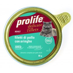 Prolife Cat Filetti di Pollo con Aringhe 85g
