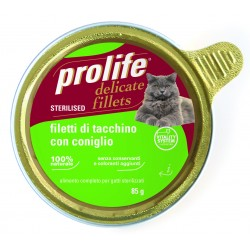 Prolife Cat Sterilized Filetti di Tacchino con Coniglio 85g