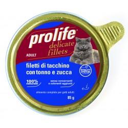 Prolife Cat Filetti di Tacchino con Tonno e Zucca 85g