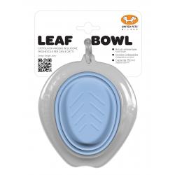 United Pets Leaf Bowl Ciotola da Viaggio Collassabile - Azzurro