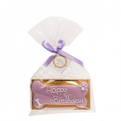 Dolci Impronte Biscotto Osso Happy Birthday - Lilla