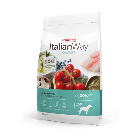 ItalianWay Dog Adult Medium - Trota e Mirtillo