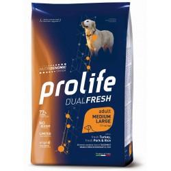 Prolife Dog Dual Fresh Adult Medium Large Turkey, Pork & Rice 2,5Kg