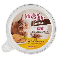 Miglior Gatto Sterilized Mousse Pollo e Prosciutto 85g