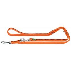 Hunter Guinzaglio da Passeggio Regolabile Safety Grip Soft - Arancione