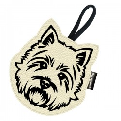 Switch Dog Mini Bag WESTIE In Vinilpelle - Panna