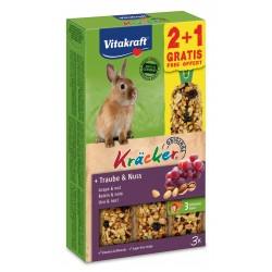 Vitakraft Kracker Uva e Noci per Conigli 2+1