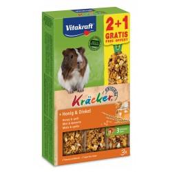 Vitakraft Kracker Miele e Farro per Porcellini d'India 2+1