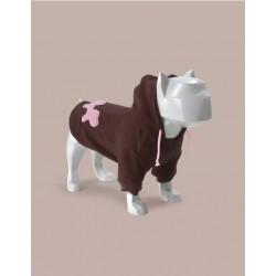 United Pets Bull - Felpa Con Cappuccio - Marrone e Rosa
