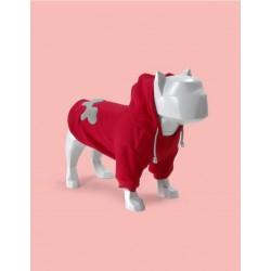 United Pets Bull - Felpa Con Cappuccio - Rosso e Grigio