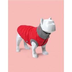 United Pets Polar Jacket - Piumino Leggero - Rosso e Grigio