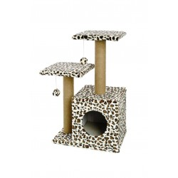 Ferribiella Tiragraffi Leopardo Cat Tree Double