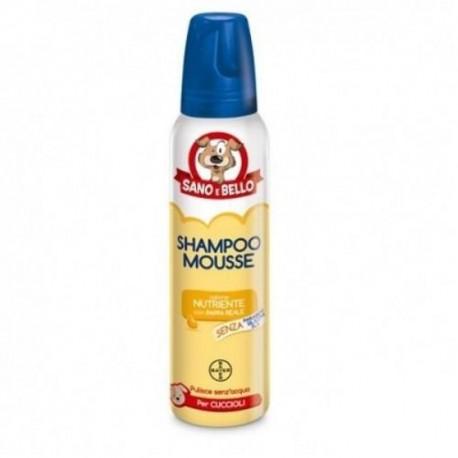 Bayer Sano e Bello Rapid Shampoo Secco Mousse Pappa Reale per Cuccioli 300ml