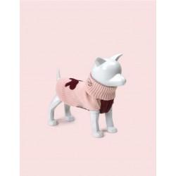 United Pets Warmy - Maglione Dolcevita - Rosa e Rosso