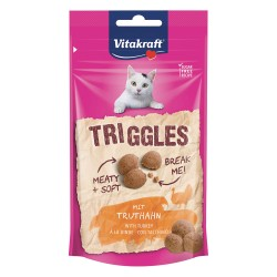 Vitakraft Triggles snack premio gatto Tacchino 40g