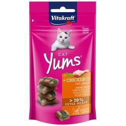 Vitakraft Cat Yums Snack Morbido Pollo ed Erba Gatta con Inulina 40g