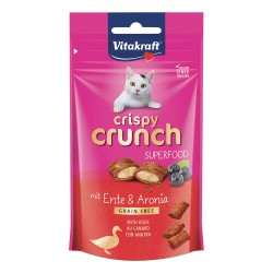 Vitakraft Cat Crispy Crunch Superfood Snack con Ripieno di Anatra e Aronia 60g