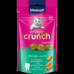 Vitakraft Cat Crispy Crunch Snack con Ripieno di Olio di Menta Piperita 60g