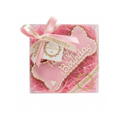 Dolci Impronte Biscotto Osso Happy Birthday - Rosa
