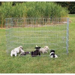 Trixie Recinto per Cuccioli in Metallo Zincato - 8 Moduli